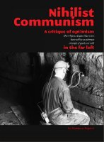 'Nihilist communism' argues against the conception of 'consciousness raising' and recruiting as practised by the far left, whereby it is implicitly assumed that the social revolution may be brought about by enough persons spreading communist ideas effectively enough. Monsieur Dupont also argues regularly against class consciousness and even consciousness as a factor in revolution. To this, they counterpose a model of revolution based on a crisis of capitalism which will necessitate the appropriation of entire key industries by the essential proletariat - a class which they believe should be defined solely by the economic position of its members. They write (in a manner somewhat typical of their style): 'We do not know what anyone means when they describe the proletariat as a social category. If they are implying that the working class as a social body have something between themselves other than their experience of work then we utterly reject this. MD [i.e. Monsieur Dupont] have a penchant for Champagne and Tarkovsky movies whereas our neighbours prefer White Lightening and WWF wrestling, our economic position, however, is identical.'  'The Proletariat will not be motivated by political values in its resistance to work but by its selfish interest to assert its species being; its bodily desire to be human floods across the barriers of separation. There is nothing nice or noble or heroic about the working class, it is essential to the productive process which constitutes the structure of our reality and therefore essential to revolution and the abolition of reality based on production.'